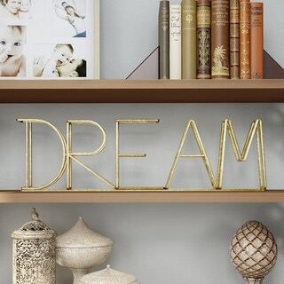 Metal Cutout Free-Standing Table Top Sign-3D DREAM Word Art Lavish Home