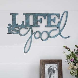 Metal Cutout- Life is Good Decorative Wall Sign-3D Word Art Lavish Home