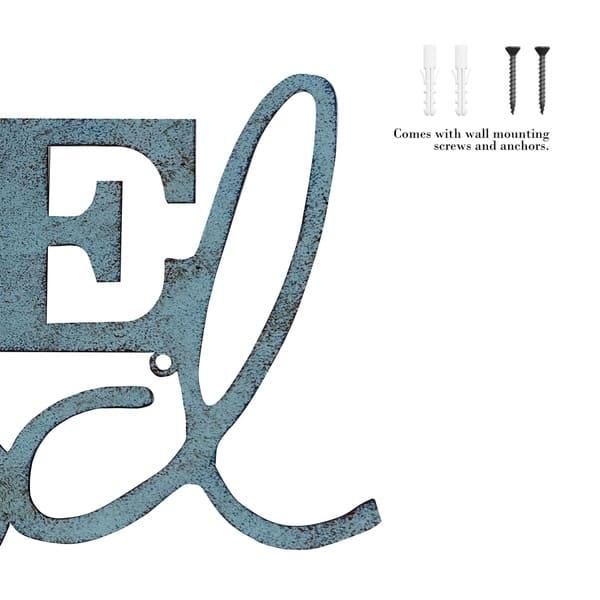 Metal Cutout Life Is Good Decorative Wall Sign 3d Word Art Lavish Home Overstock 23525930