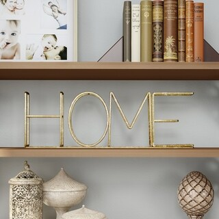 Metal Cutout Free-Standing Table Top Sign-3D HOME Word Art Lavish Home
