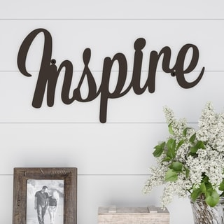 Metal Cutout- Inspire Decorative Wall Sign-3D Word Art Lavish Home