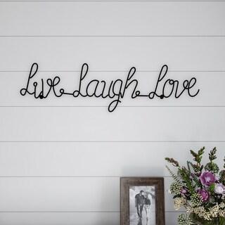 Metal Cutout- Live Laugh Love Cursive Cutout Sign-3D Word Art Lavish Home