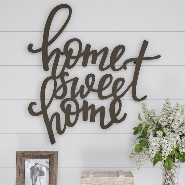 Shop Metal Cutout- Home Sweet Home Decorative Wall Sign-3D ...