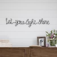 Metal Cutout- Let Your Light Shine Cursive Sign-3D Word Art Lavish Home