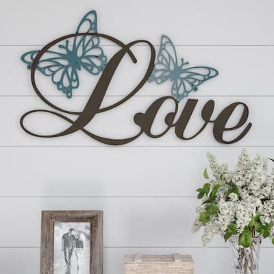 Metal Cutout- Love Decorative Wall Sign-3D Word Art Lavish Home