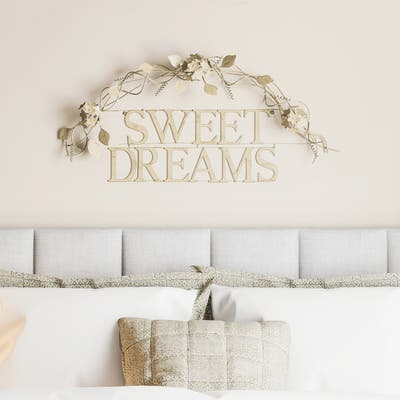 Metal Cutout- Sweet Dreams Decorative Wall Sign-3D Word Art Lavish Home