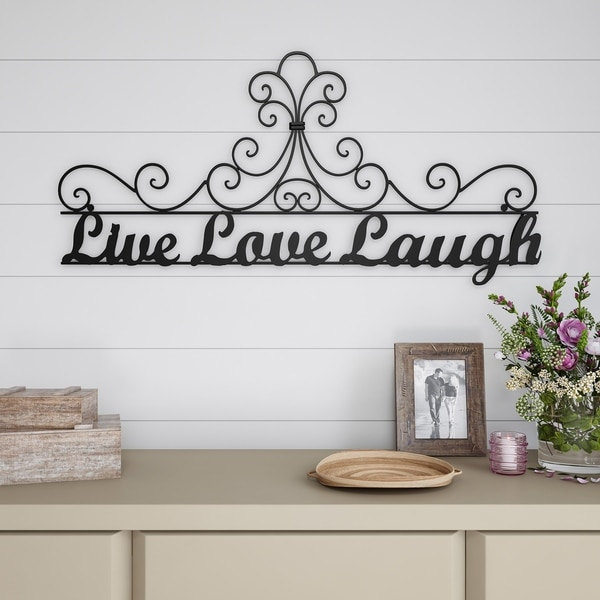 Metal Cutout Live Laugh Love Decorative Wall Sign Word Art Lavish Home