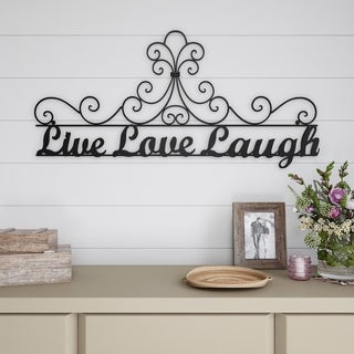 Metal Cutout-Live Laugh Love Decorative Wall Sign-3D Word Art Lavish Home