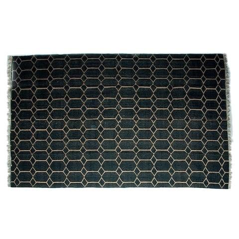 Handmade Wool Jute Kilim Rug (India) - 8'x10'