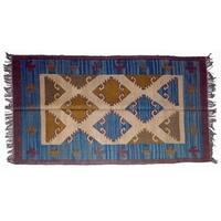 Wool Jute Kilim Rug 4'x6' - 4000R34
