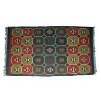 Wool Jute Kilim Rug 5'x8' - 5000R17