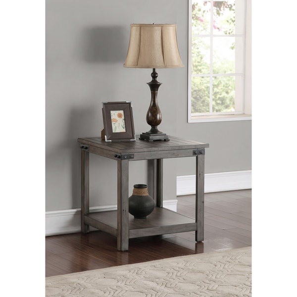 The Gray Barn Raven Gulch Smoked Grey End Table