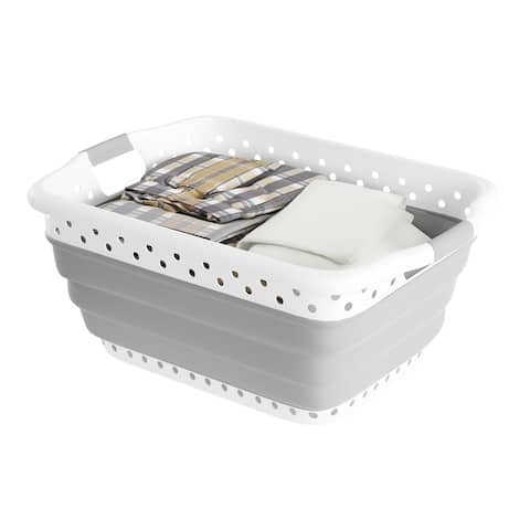 Collapsible Laundry Basket-Multiuse Organizer/Storage Container by Lavish Home
