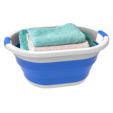 Collapsible Laundry Basket- Comfort Grip Handles by Lavish Home - 24.25 x 17.5 x 11