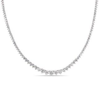 Miadora 18k White Gold 7 1/2ct TDW Diamond Tennis Necklace