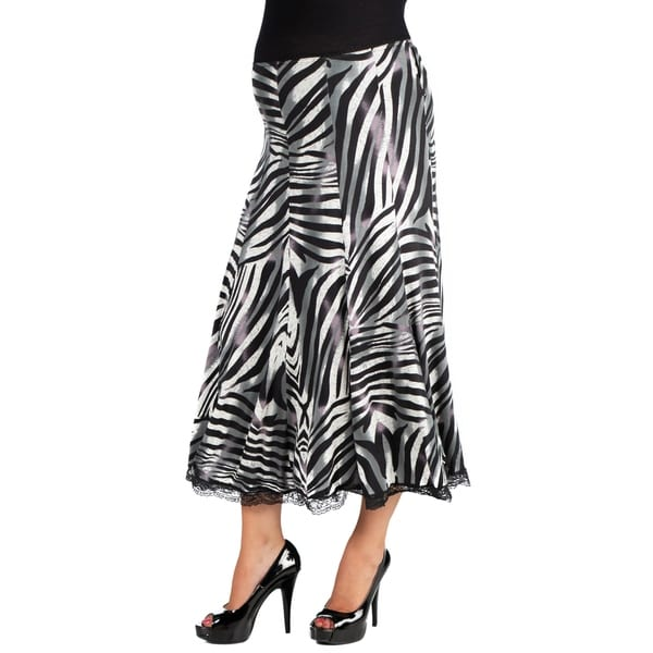 c0684250fb Shop 24/7 Comfort Apparel Midi Maternity Skirt - On Sale - Free ...