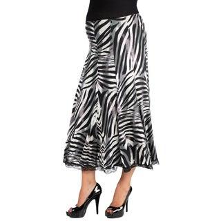 24/7 Comfort Apparel Midi Maternity Skirt