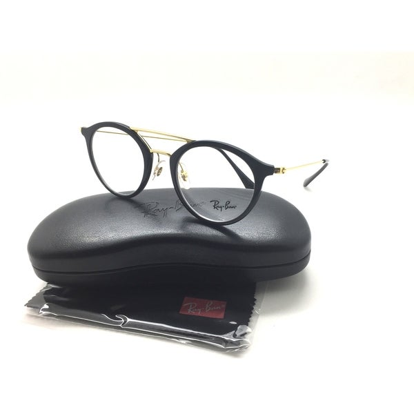 b33365f7eb Shop Ray-Ban Round Black eyeglasses metal RB 7007 2000 47 - Free Shipping  Today - Overstock - 23526378
