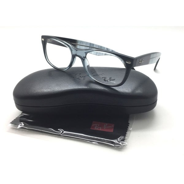 ce29a6a851 Ray Ban RB 5184 5515 plastic Wayfarer Black Grey 50mm RX Eyeglasses
