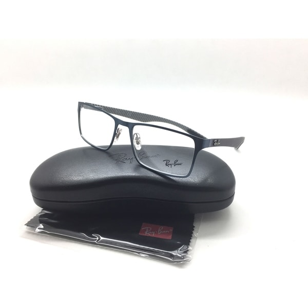 65ada7ecaf Shop Ray-Ban Eyeglasses RB 8415 2881 Blue Rectangular Frames 53mm ...
