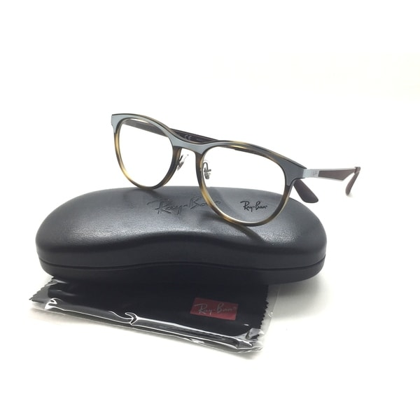 fbb8125e43 Ray-Ban RB 7116 8016 51mm Matte Havana Gunmetal Full Rim Eyeglasses