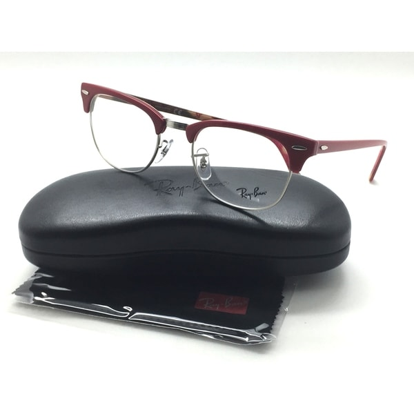 c9e9289dc3 Shop Ray-Ban RX RB 5154 5651 Clubmaster Red Clubmaster Eyeglasses ...