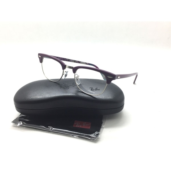 24c460ca0ac Shop Ray-Ban RB 5154 5652 Clubmaster Purple New Authentic Eyeglasses 49mm -  Free Shipping Today - Overstock.com - 23526389