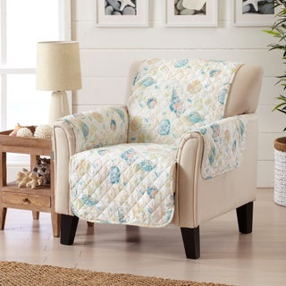Sofa Saver Coastal Reversible Stain Resistant Printed Chair Furniture Protector