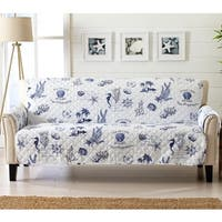 Sofa Saver Coastal Reversible Stain Resistant Printed Sofa Furniture Protector