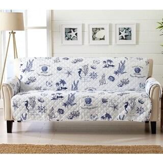 Sofa Saver Coastal Reversible Stain Resistant Printed Sofa Furniture Protector
