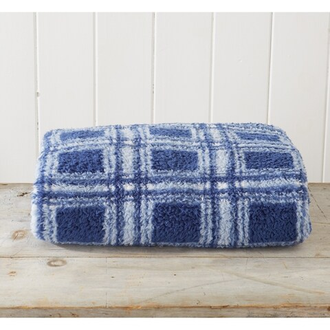 Porch & Den Bosworth Plaid Sherpa Stretch Knitted Lightweight Bed Blanket