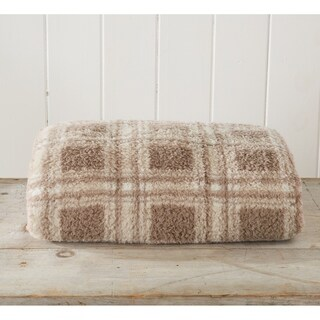 Ultra Soft, Cozy Plaid Sherpa Stretch Knitted Lightweight Bed Blanket