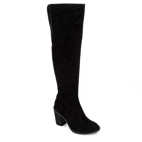 Eva & Zoe Womens Gabriella Over The Knee Boot Shoes, Black