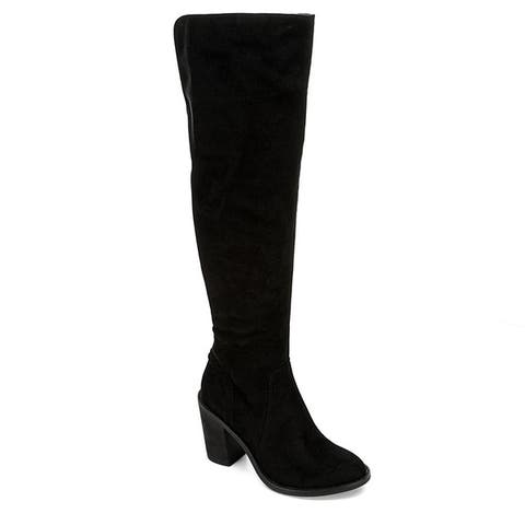 Eva & Zoe Womens Gabriella Over The Knee Boot Shoes Black