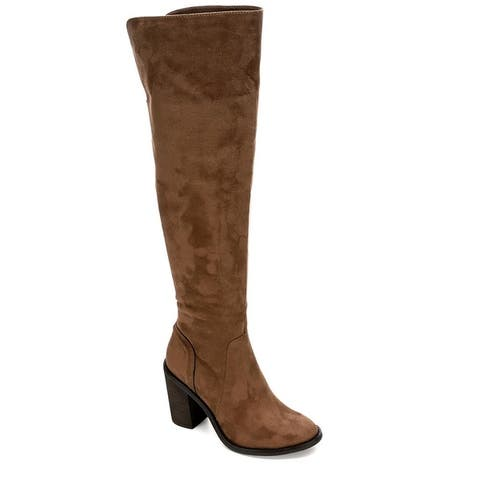 Eva & Zoe Womens Gabriella Over The Knee Boot Shoes Khaki