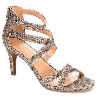 Maripe Womens Elissa High Heel Strappy Sandal Shoes, Gold