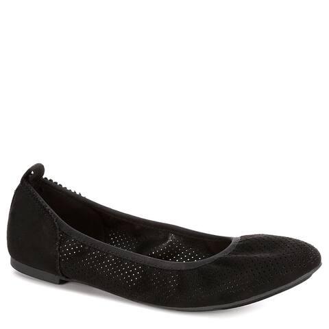 Sophie17 Womens Joy Slip On Ballet Flat Shoes, Black