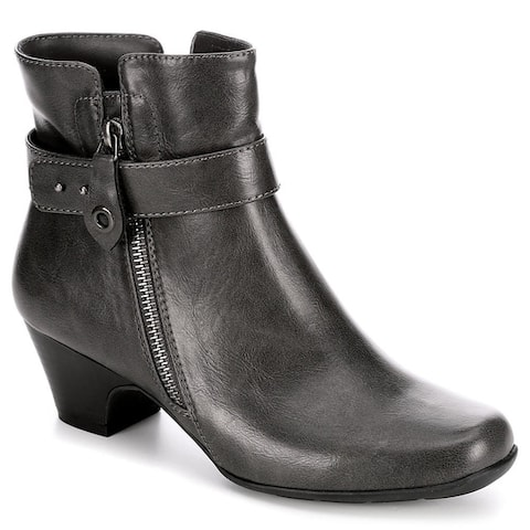Michael Shannon Womens Sonsa Heeled Ankle Boot Shoes Grey
