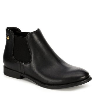 XAPPEAL Womens Faux Leather Chelsea Ankle Boot Shoes, Black