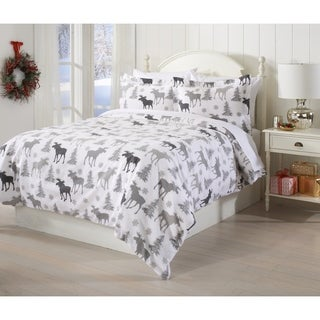 100% Turkish Cotton Extra Soft Printed Flannel Duvet Cover