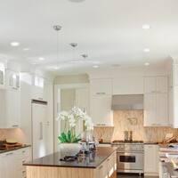 6 in. White Ultra Slim Swivel Integrated LED Recessed Lighting Kit