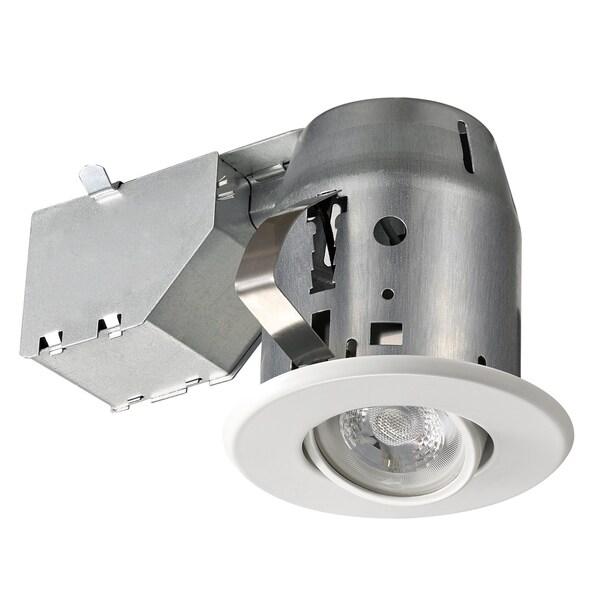 3 in. White Swivel Spotlight Recessed Lighting Kit. Opens flyout.