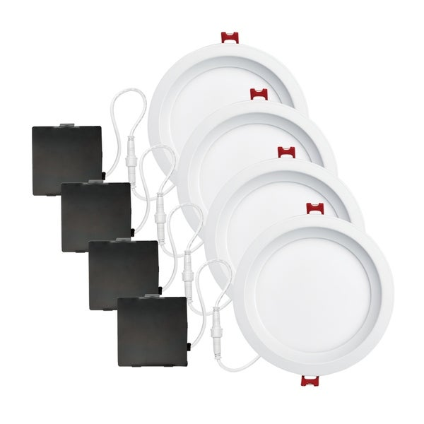 6 in. White Ultra Slim Baffle Integrated LED Recessed Lighting Kit. Opens flyout.