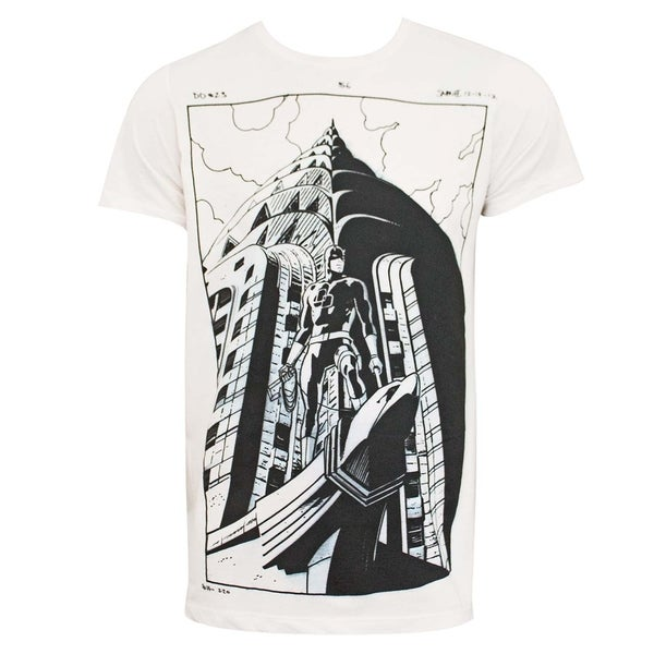 Daredevil Comic Art Mens Off-White Tee Shirt