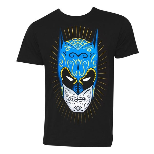Batman Sugar Skull Mens Black T-Shirt