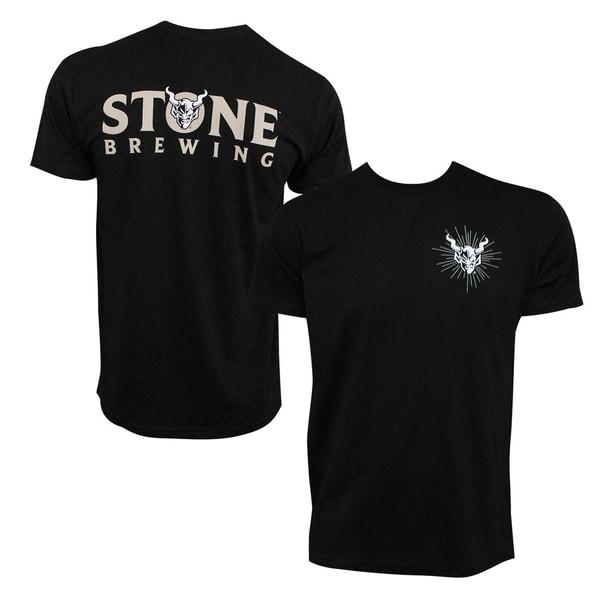 Stone Brewing Devil Logo Black Mens TShirt