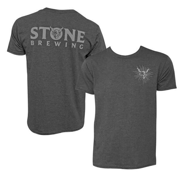 Stone Brewing Devil Logo Heather Gray Mens T Shirt