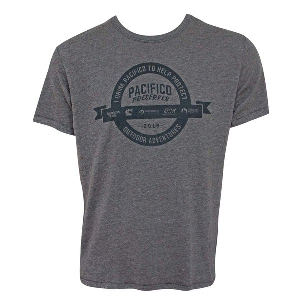 Pacifico Preserves Adventures Mens Gray T-Shirt