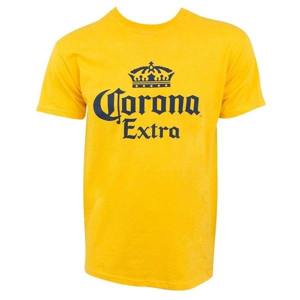 Corona Extra Logo Yellow Mens TShirt