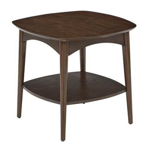 Mid Century Copenhagen Accent Table in Walnut Finish
